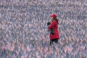 More Than 37,000 Flags Planted On Boston Common To Honor Fallen MA Military